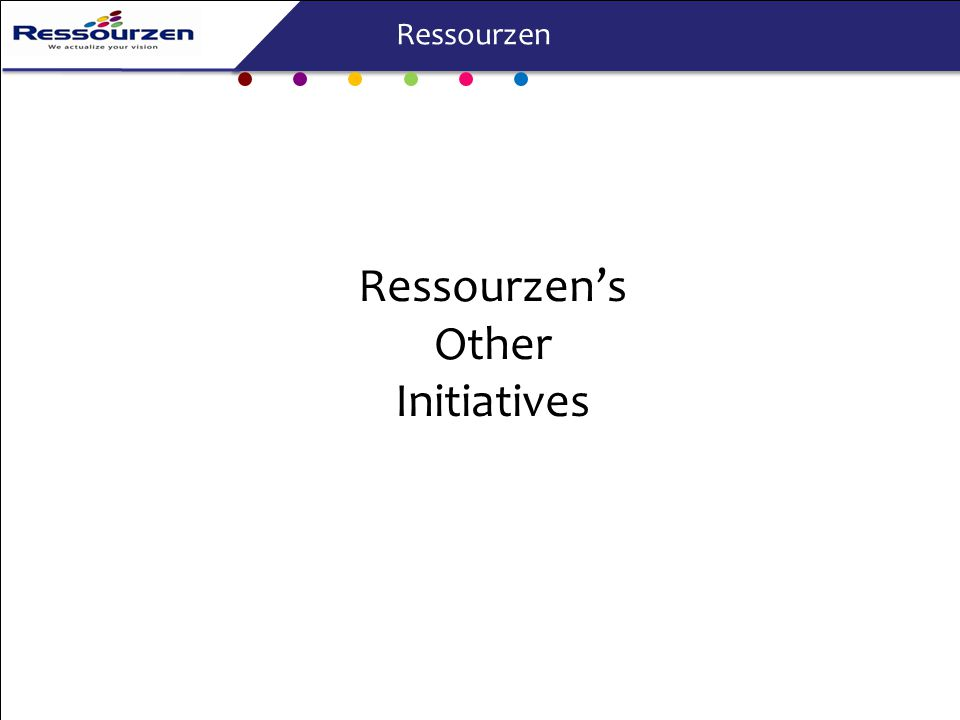 Ressourzen's Other Initiatives Ressourzen