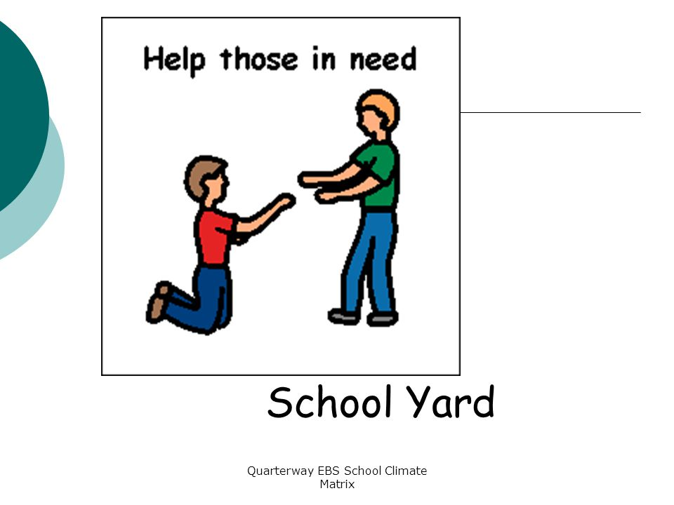 Quarterway EBS School Climate Matrix School Yard
