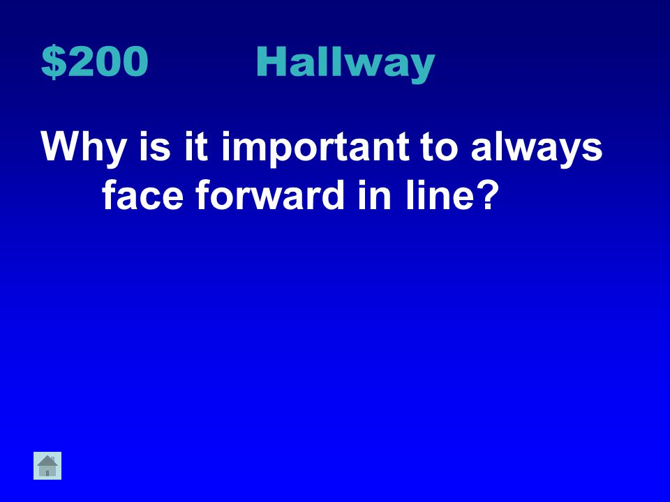 $100 Hallway On which side of the hall are you suppose to walk?