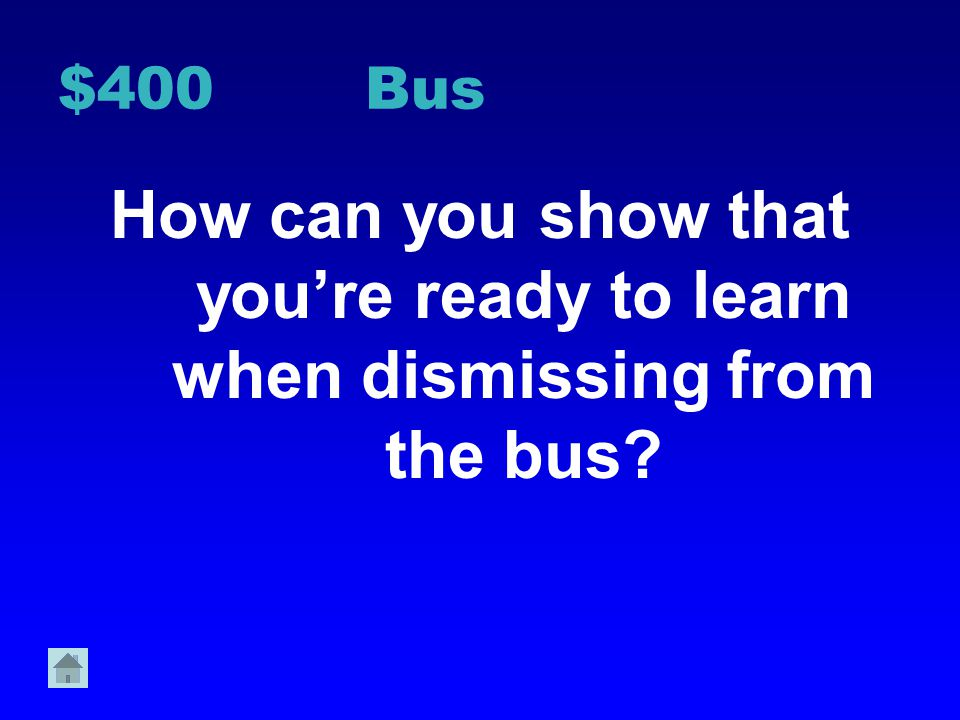 $300 Bus What types of voices should be heard on the bus? Why?