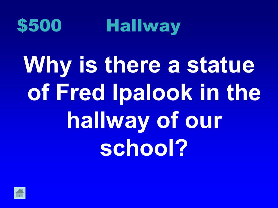 $400 Hallway Why do we walk in a single file line through the hall