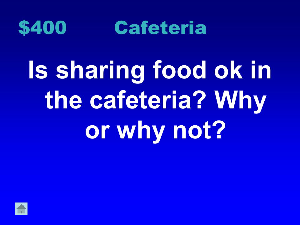 $300 Cafeteria List 3 actions that are not acceptable while waiting in the lunch line Why