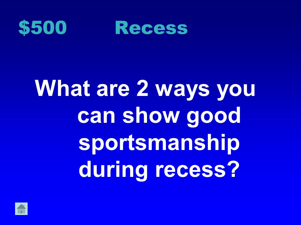 $400 Recess Why is it important to use sports equipment appropriately