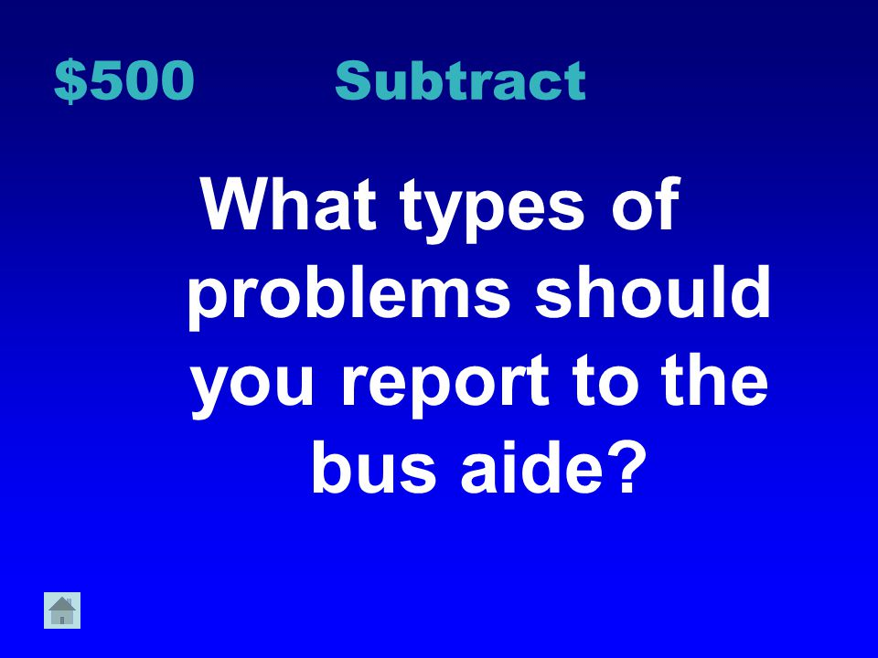 $400 Bus Tell 2 reasons should you keep the bus aisle clear.