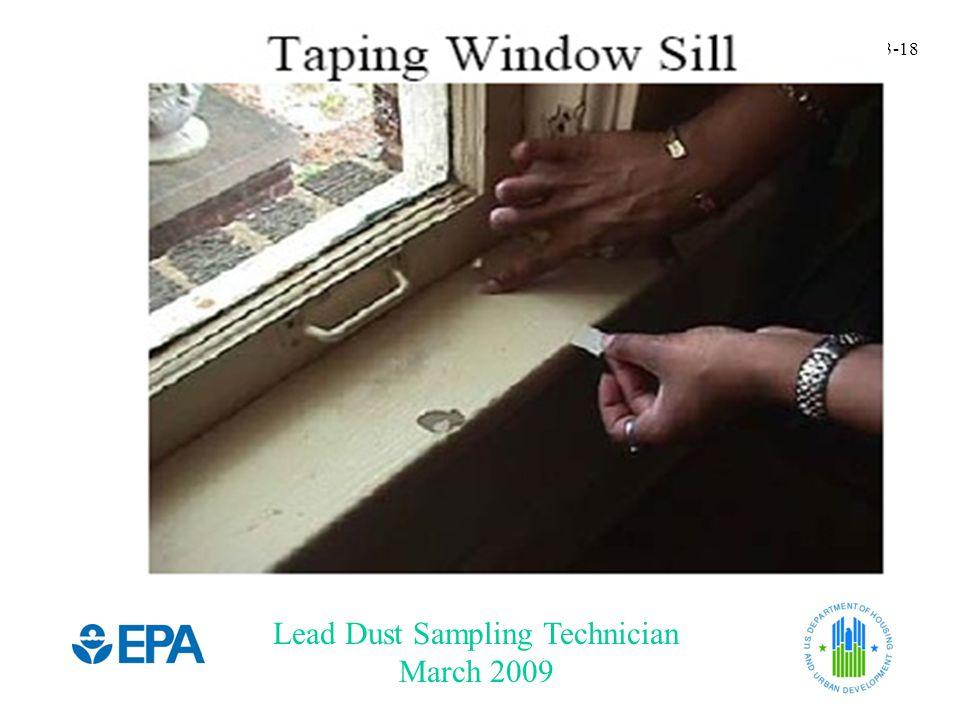 Lead Dust Sampling Technician March 2009 3-18