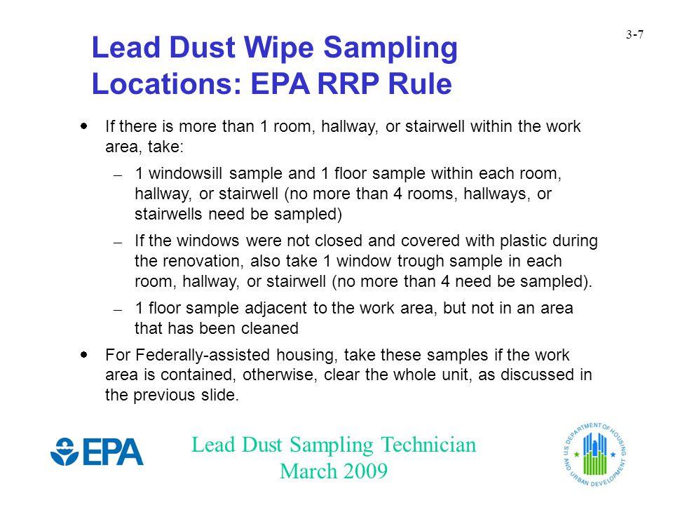 Lead Dust Sampling Technician March 2009 3-38 How Did It Go.