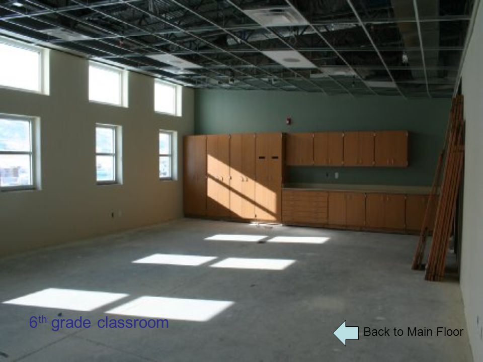 Back to Main Floor 6 th grade classroom