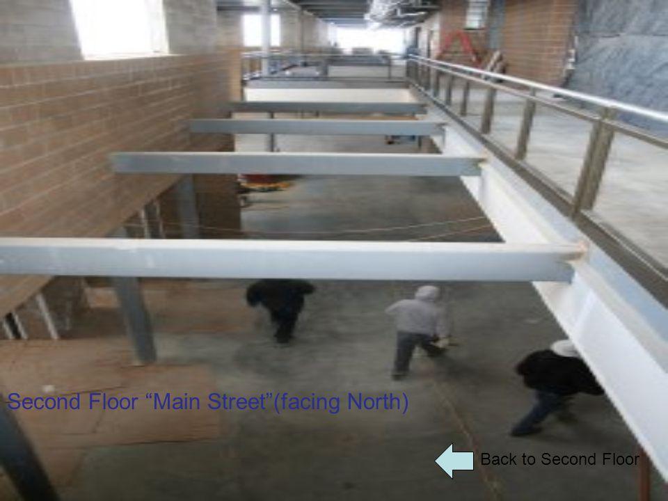 "Back to Second Floor Second Floor ""Main Street""(facing North)"