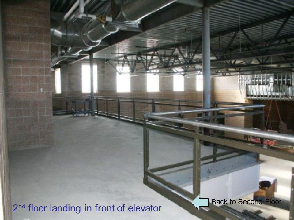 Back to Second Floor 2 nd floor landing in front of elevator