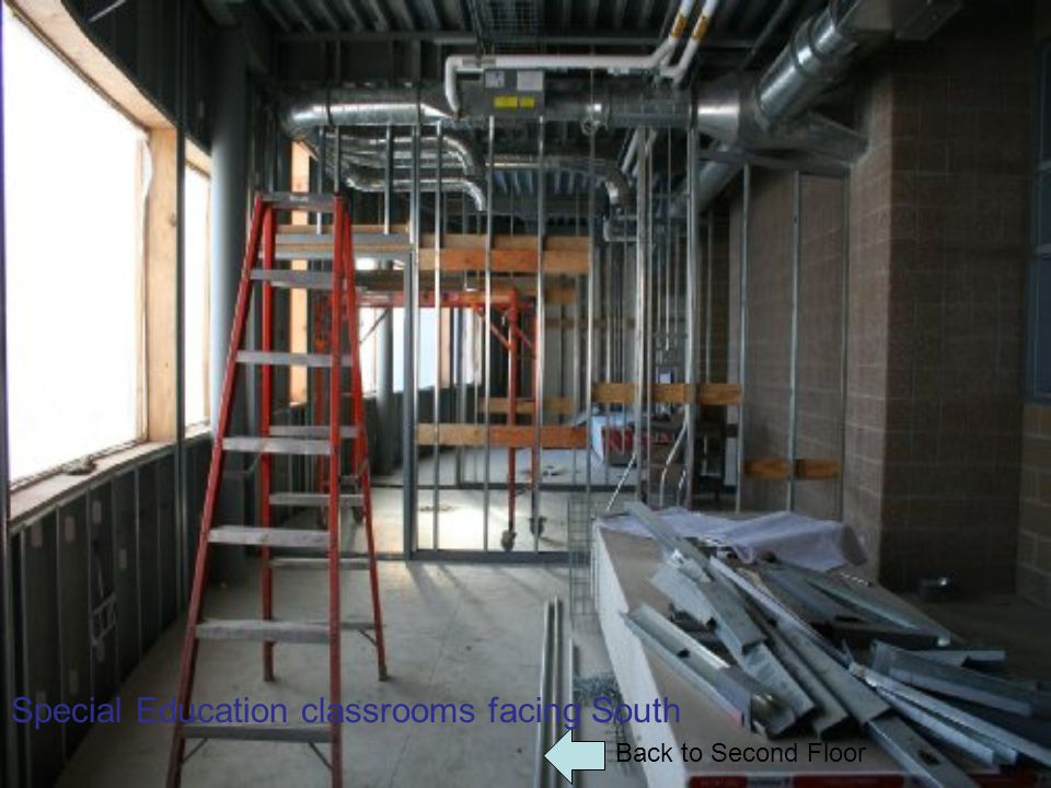 Back to Second Floor Special Education classrooms facing South