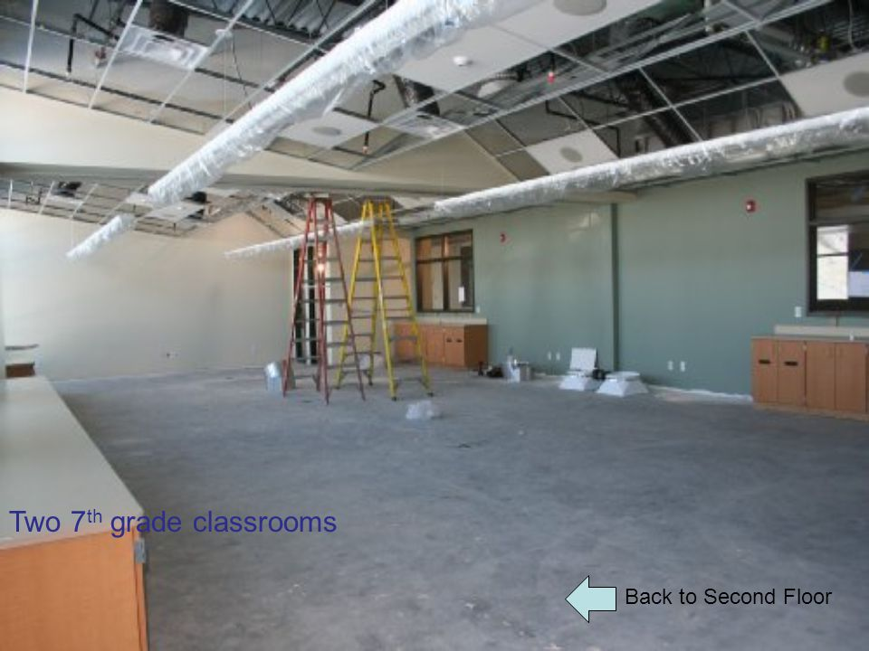 Back to Second Floor Two 7 th grade classrooms