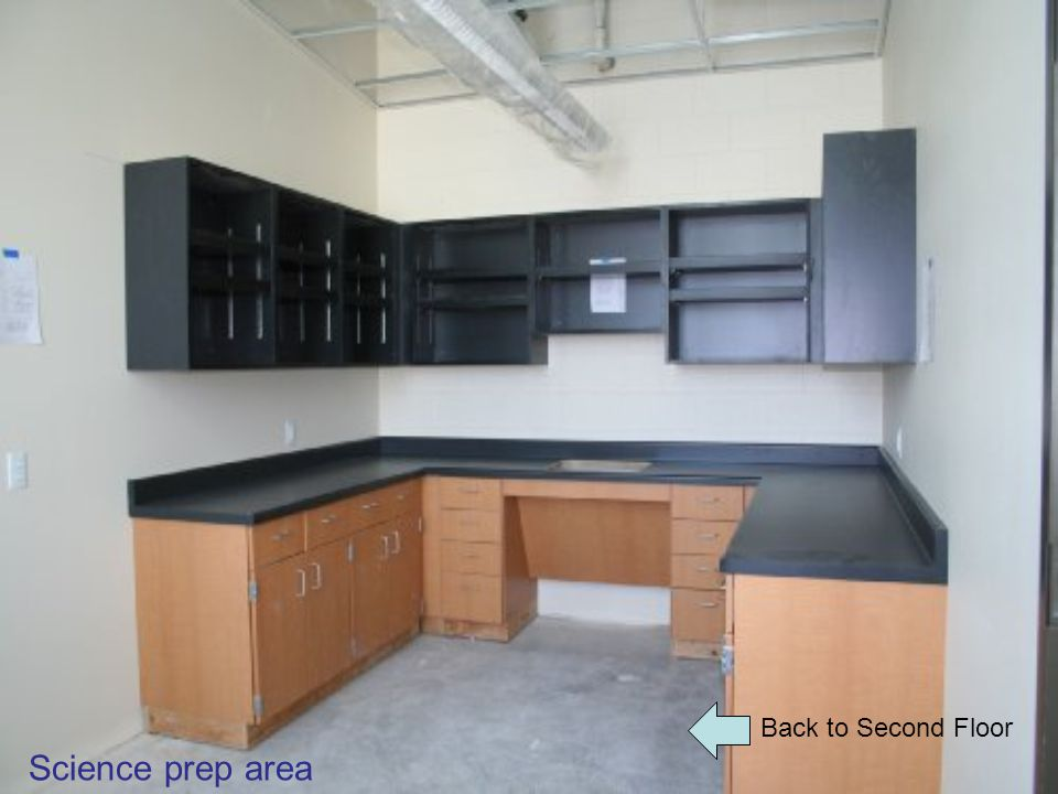 Back to Second Floor Science prep area