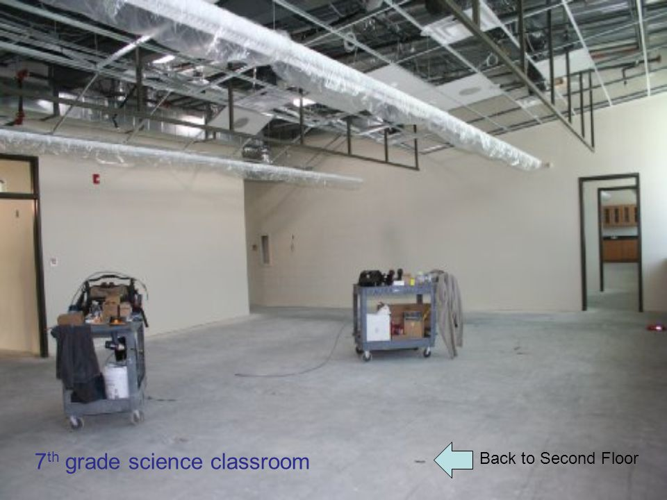 Back to Second Floor 7 th grade science classroom