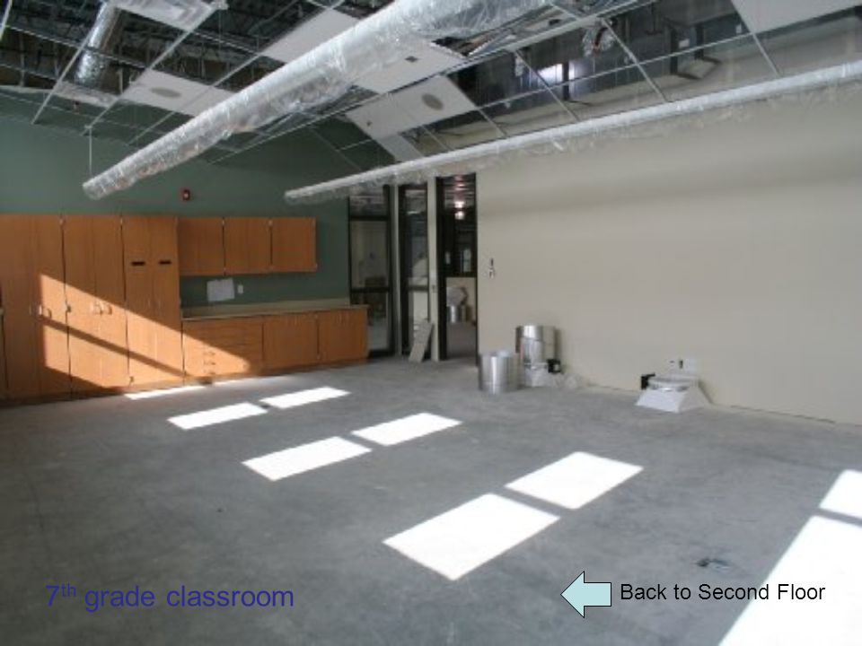 Back to Second Floor 7 th grade classroom