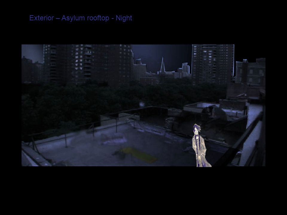 Exterior – Asylum rooftop - Night