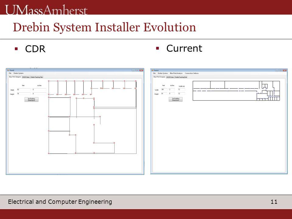 11 Electrical and Computer Engineering Drebin System Installer Evolution  CDR  Current