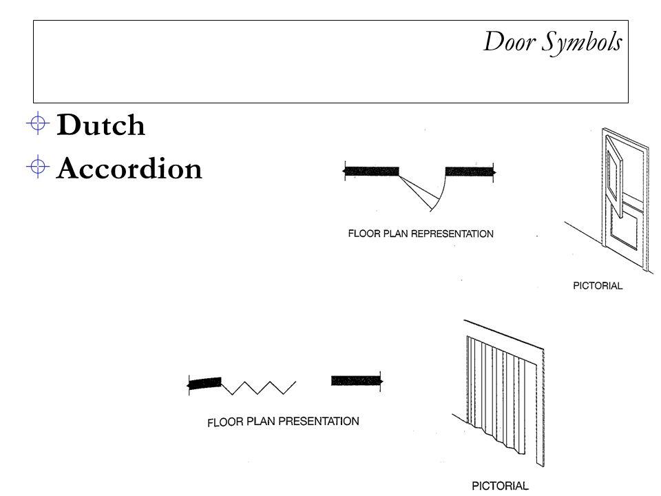 Door Symbols  Dutch  Accordion