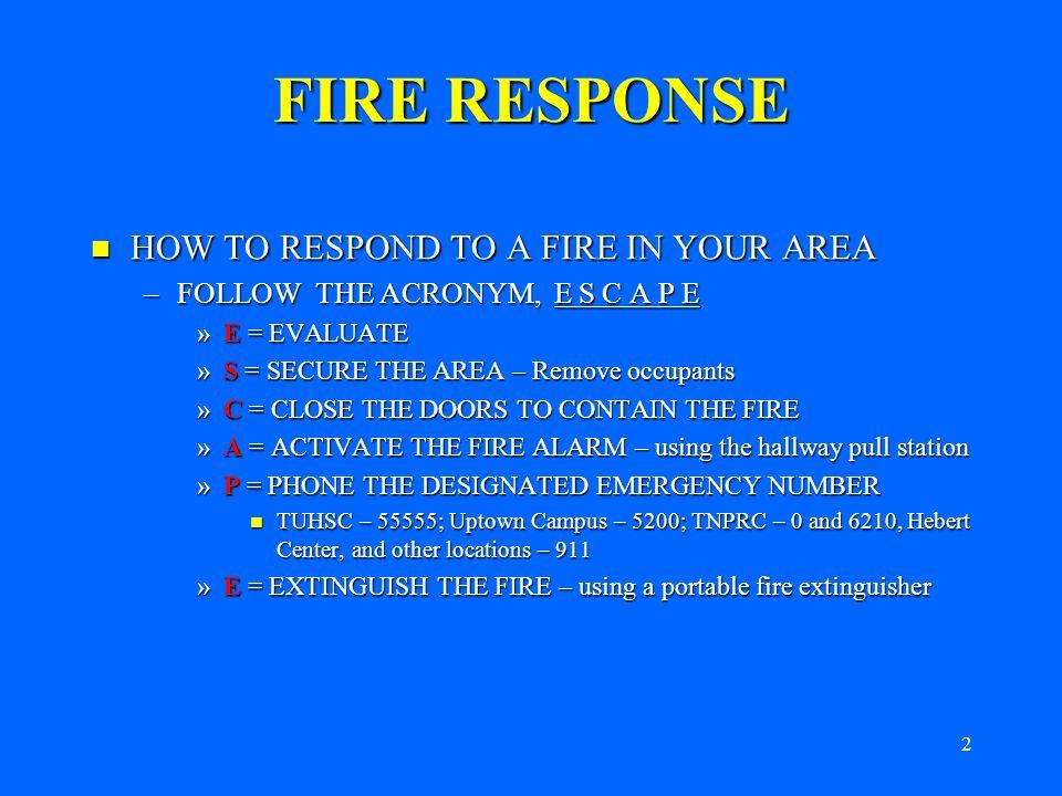 1 FIRE SAFETY TULANE UNIVERSITY