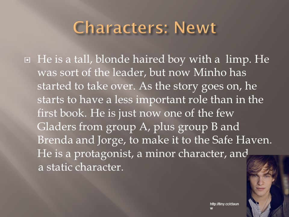  He is a tall, blonde haired boy with a limp.
