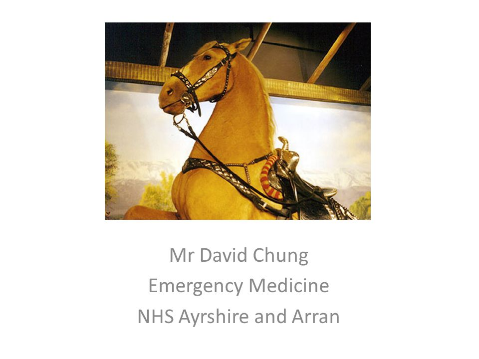 Mr David Chung Emergency Medicine NHS Ayrshire and Arran