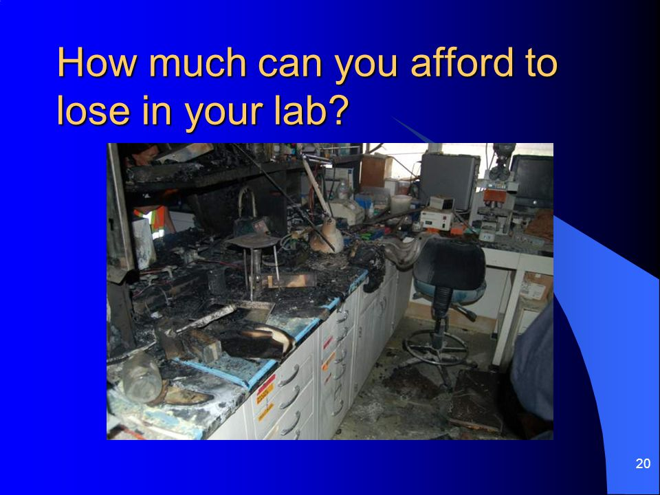 How much can you afford to lose in your lab 20