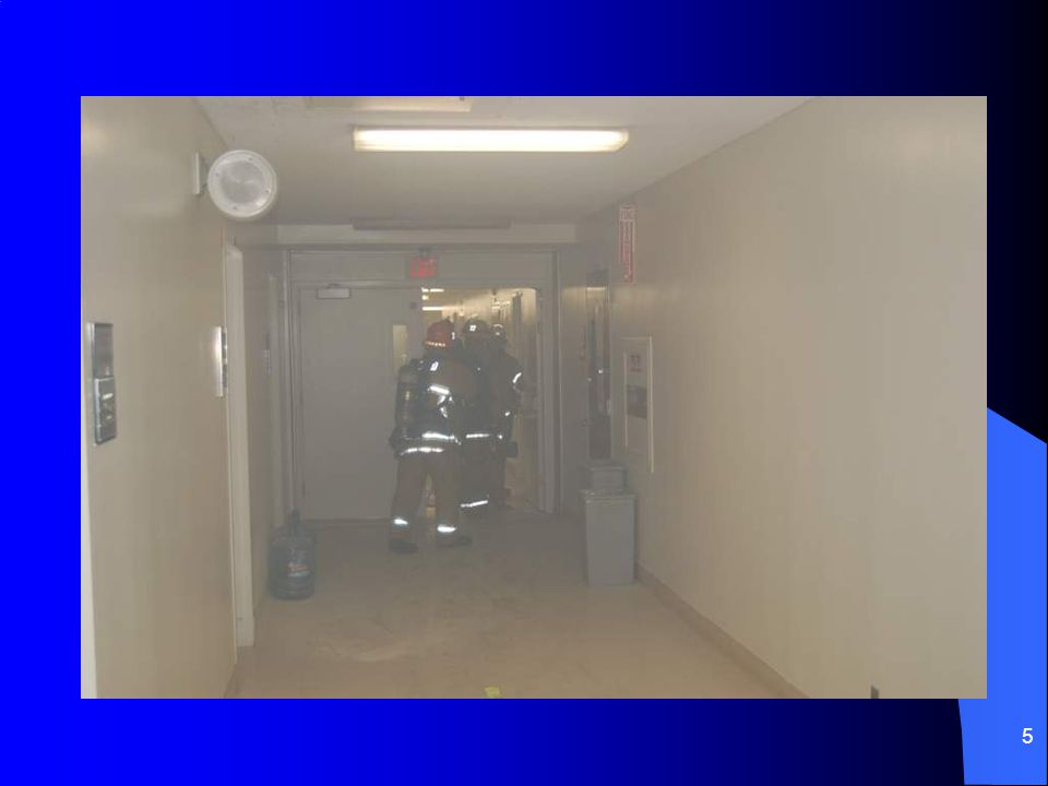 6 UCLA Fire-1 made access to room 52-164 Discovered active fire inside –Black heavy smoke –Roll over in progress –Bright flashes and sounds of electrical arcing Fire-1 closed the door and backed into the corridor to report conditions Proceeded to identify resources for access and water supply
