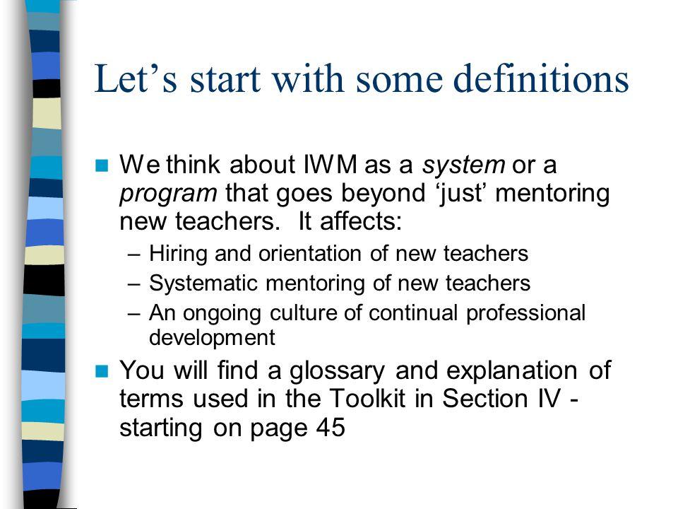 New teachers We also use the term new teachers broadly.