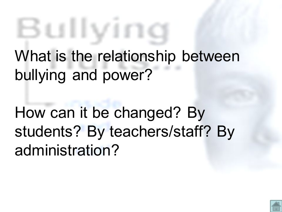 What is the relationship between bullying and power.