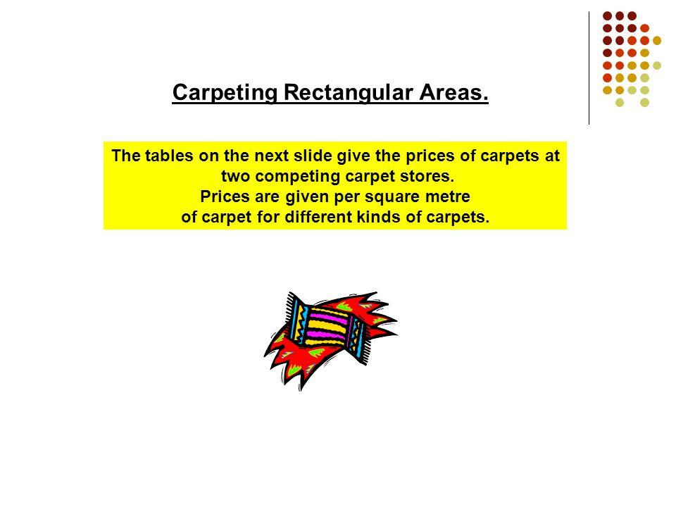 Carpeting Rectangular Areas Arithmetic