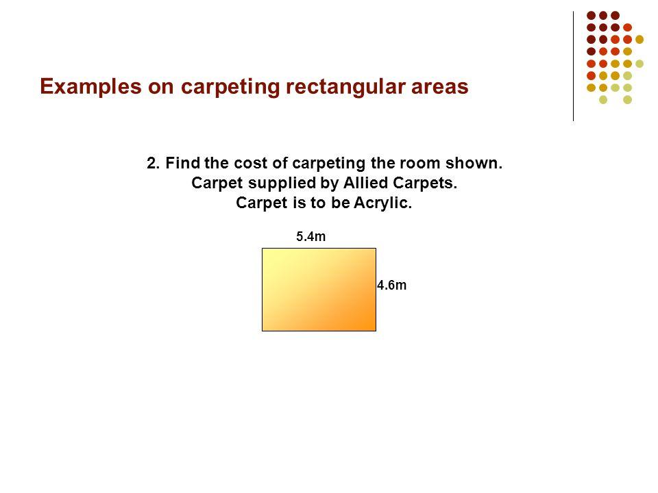 Examples on carpeting rectangular areas 6m 4m 1.