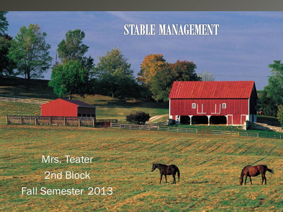  Mrs. Teater 2nd Block Fall Semester 2013