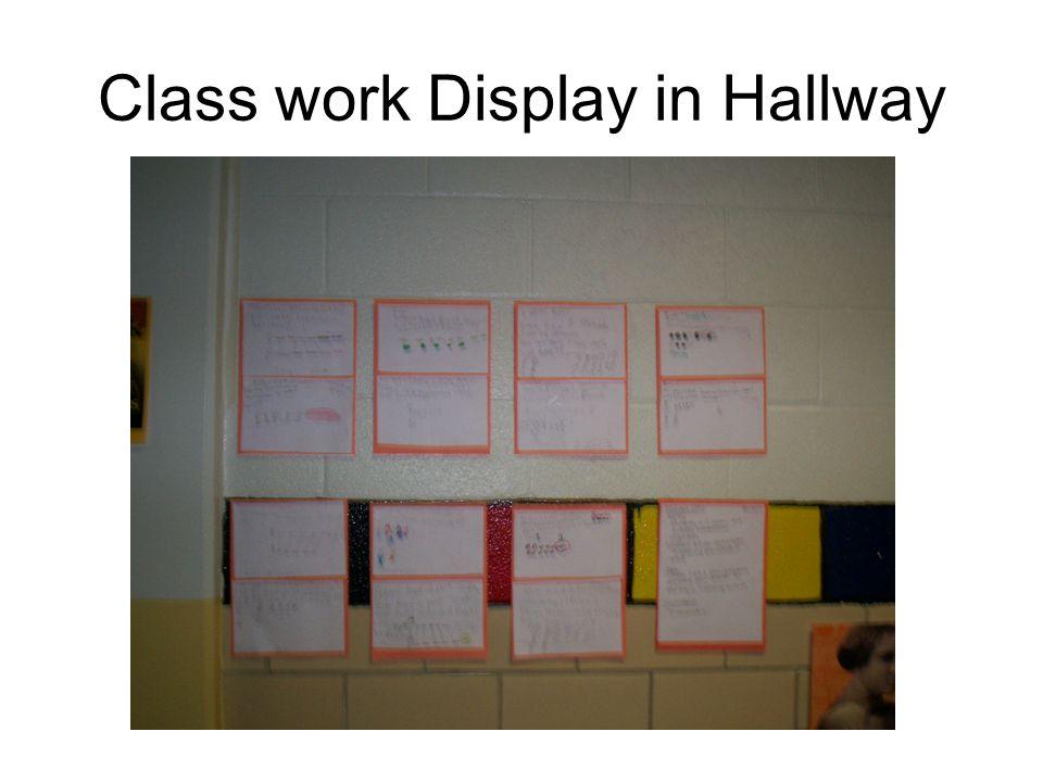Class work Display in Hallway