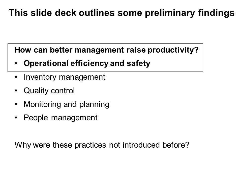 How can better management raise productivity.