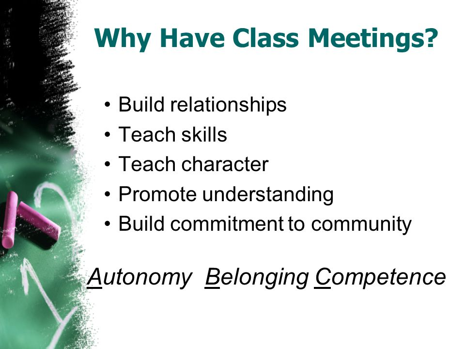 Why Have Class Meetings.