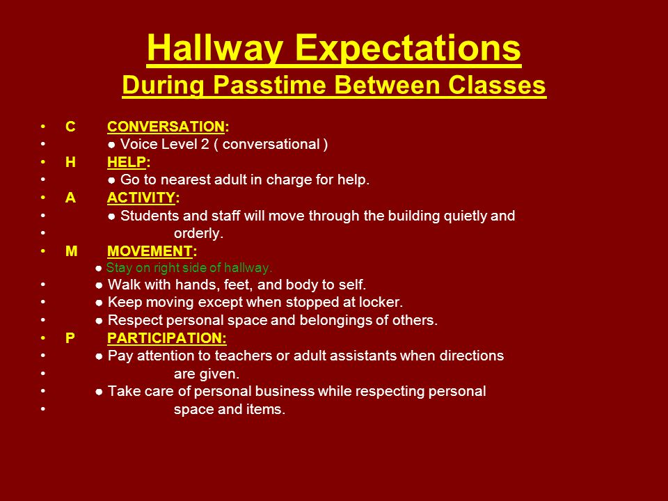 Fire Drill Expectations CCONVERSATION: ● Voice Level 0 (No Talking) during Fire Drill HHELP: ● Raise hand and wait for adult assistance while remaining in your designated area.