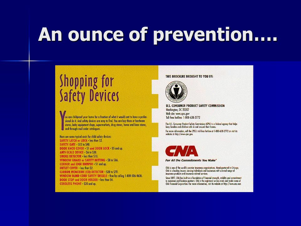 An ounce of prevention….