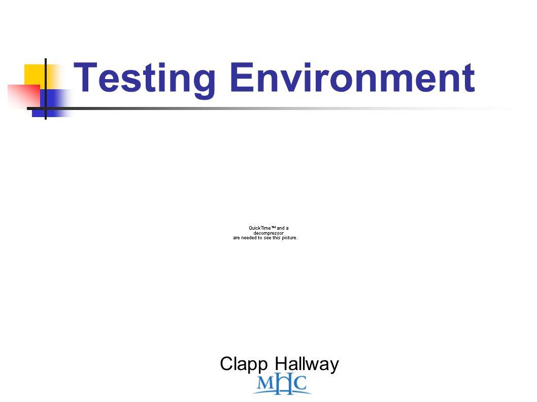 Testing Environment Clapp Hallway