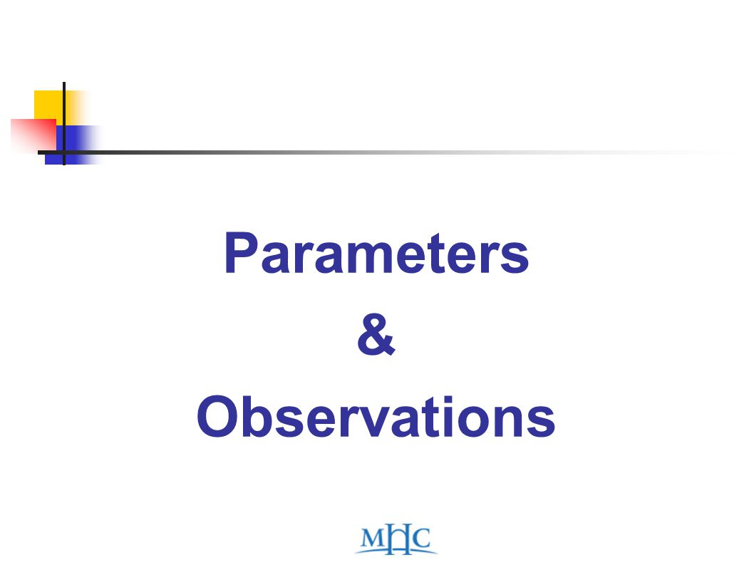 Parameters & Observations