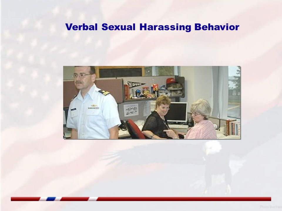Verbal Sexual Harassing Behavior