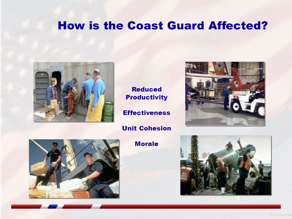 How is the Coast Guard Affected Reduced Productivity Effectiveness Unit Cohesion Morale