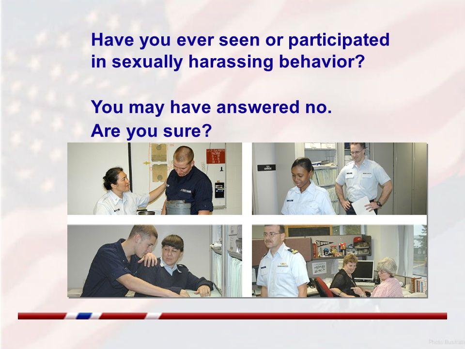 Verbal Sexual Harassing Behavior