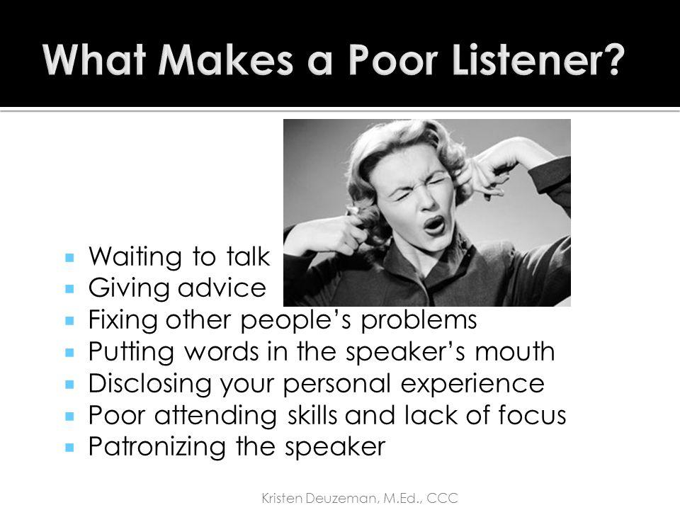 Listening Skills 1.Extract information (vs.