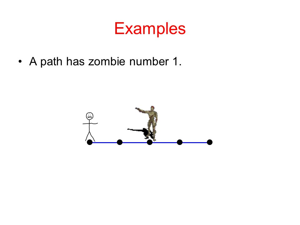 Examples A path has zombie number 1.