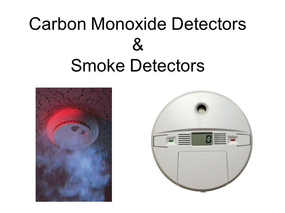 Carbon Monoxide Detectors & Smoke Detectors