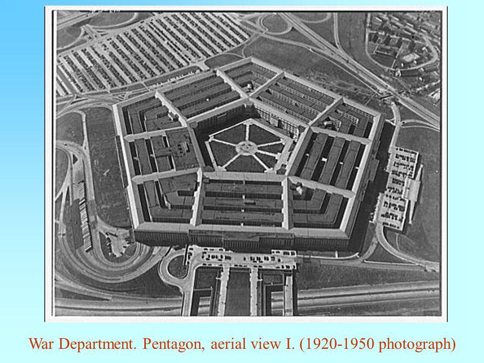 War Department. Pentagon, aerial view I. (1920-1950 photograph)