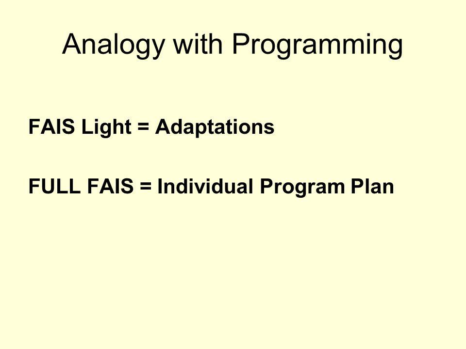FAIS Light vs.