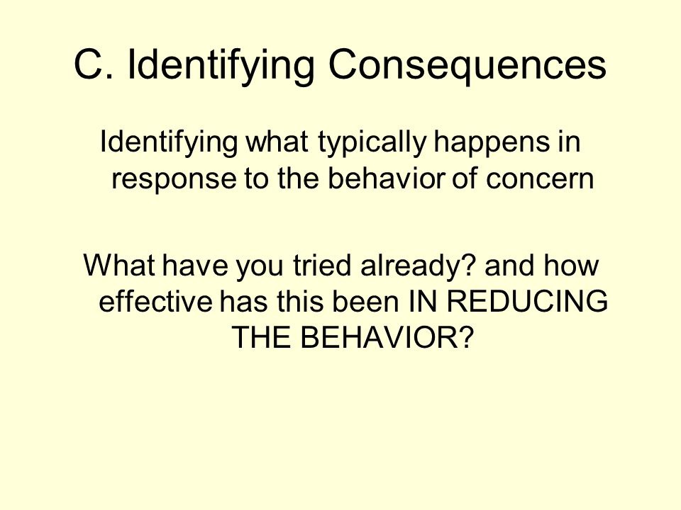 How effective were these consequences.