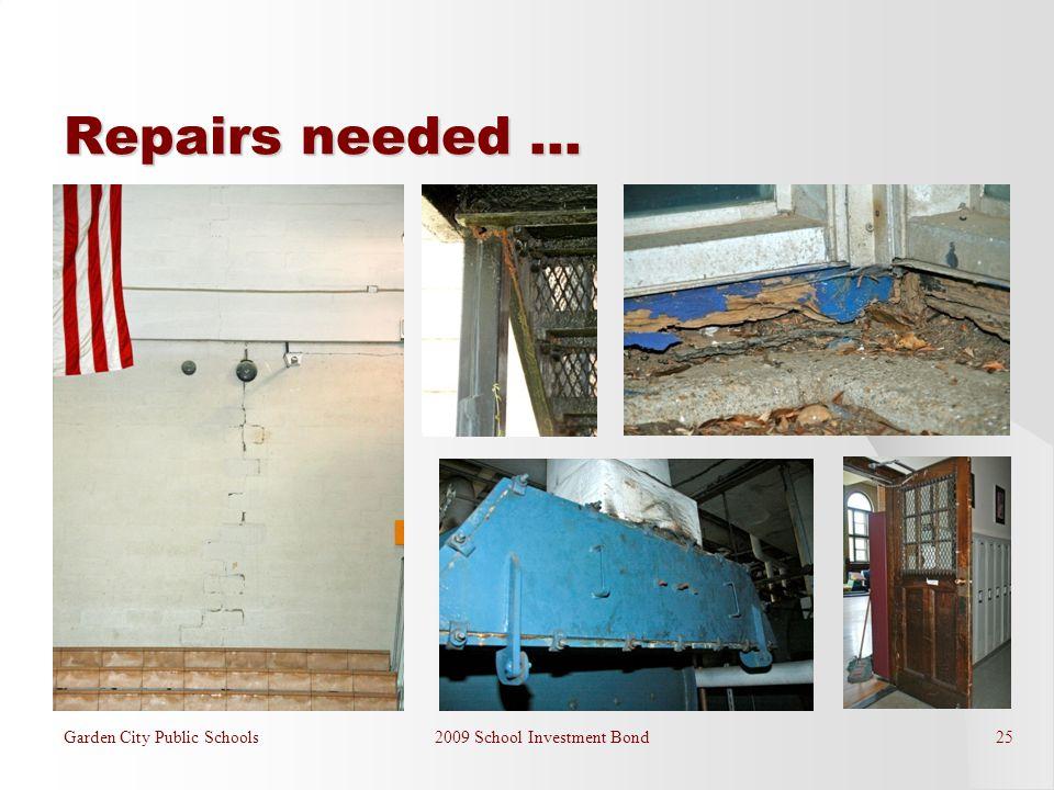 Repairs needed … Garden City Public Schools 2009 School Investment Bond 25