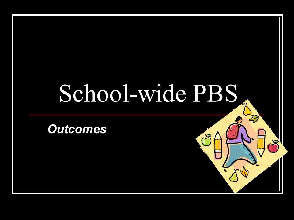 School-wide PBS Outcomes