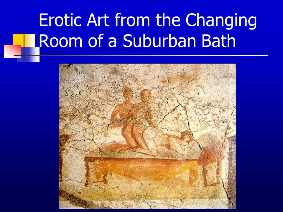 Erotic Art from the Changing Room of a Suburban Bath